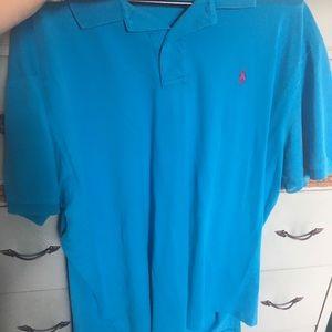 Men's XXL Blue Polo Shirt